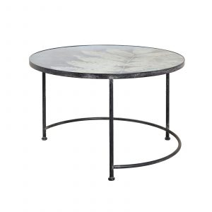 Berkeley Round Coffee Table - Blue Leaf