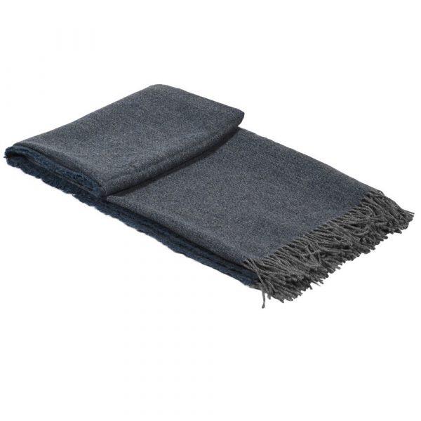 Cobalt Lambs Wool Throw