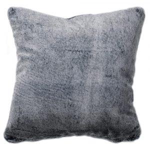 Dark Grey Faux Fur Cushion Cover