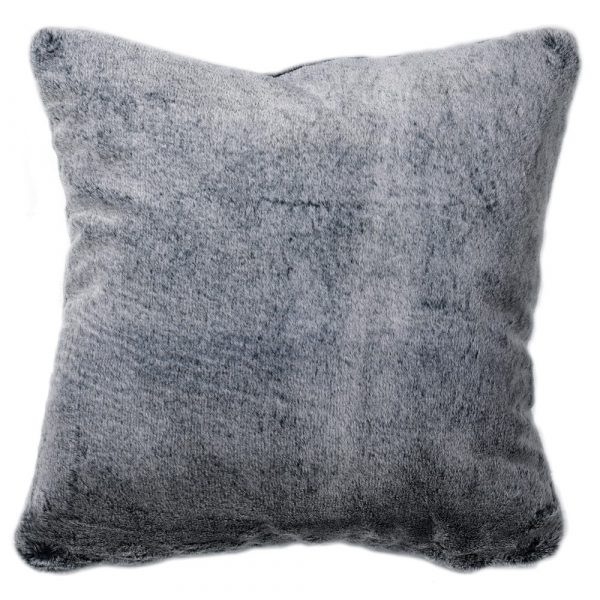 Dark Grey Faux Fur Cushion Cover