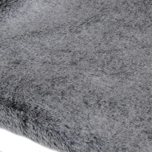 Dark Grey Faux Fur Throw
