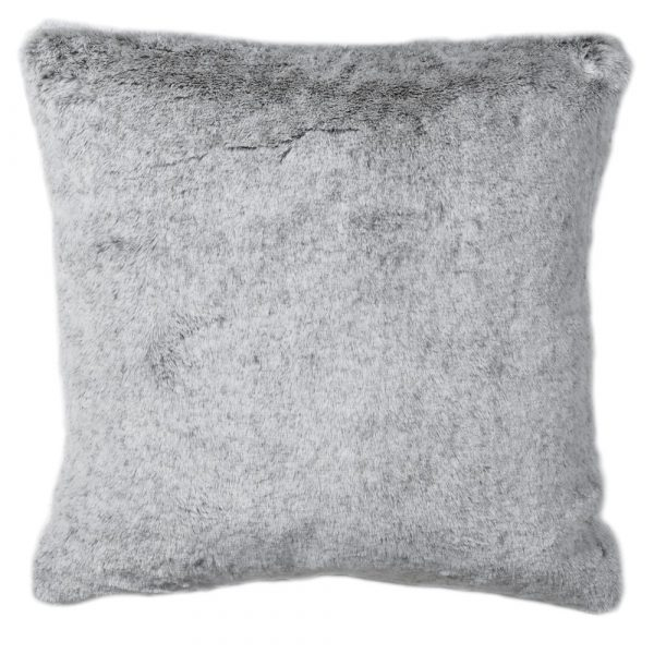 Light Grey Faux Fur Cushion Cover