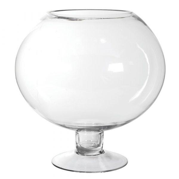 Large Open Glass Globe Jar
