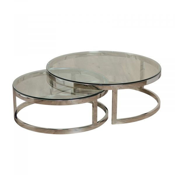 Covent Garden Steel Round Tables Set