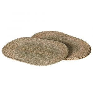 Set of 4 Oval Seagrass Placemats