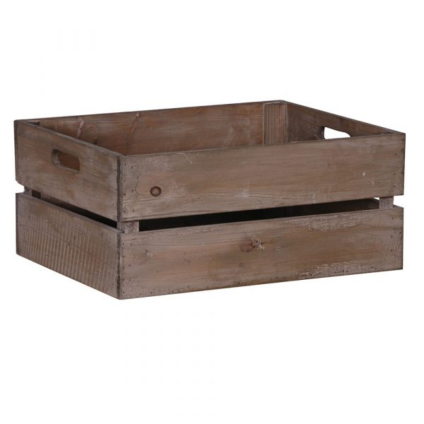 Rectangular Wooden Crate