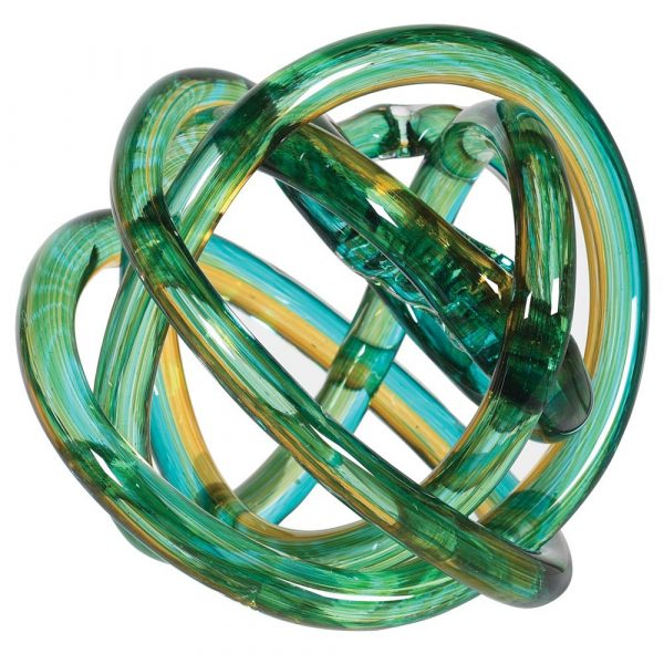 Green & Yellow Knot Ornament