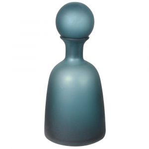 Navy Glass Ball Top Bottle