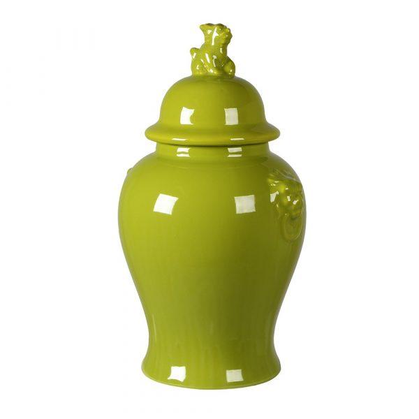 Lime Lion Head Ginger Jar