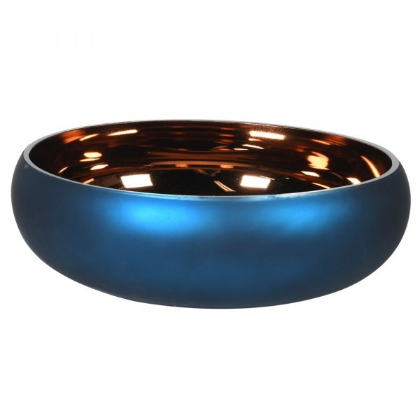 Matt Blue/Bronze Glass Bowl