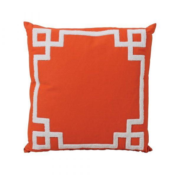 Orange / White Cushion