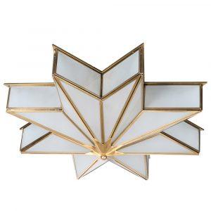 Brass Star Ceiling Light