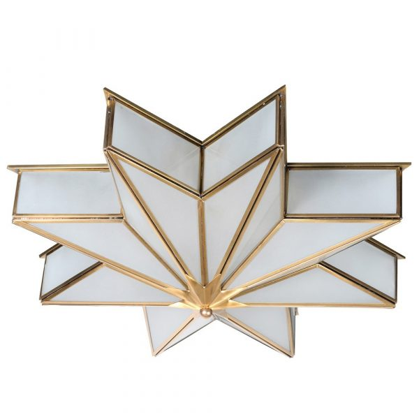 Brass Star Ceiling Light