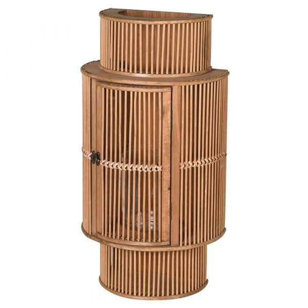 Bamboo Curved Lantern