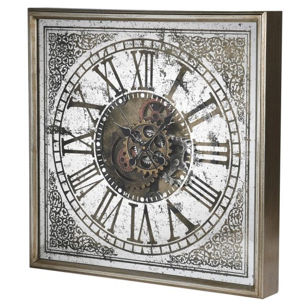 Square Cogs Wall Clock