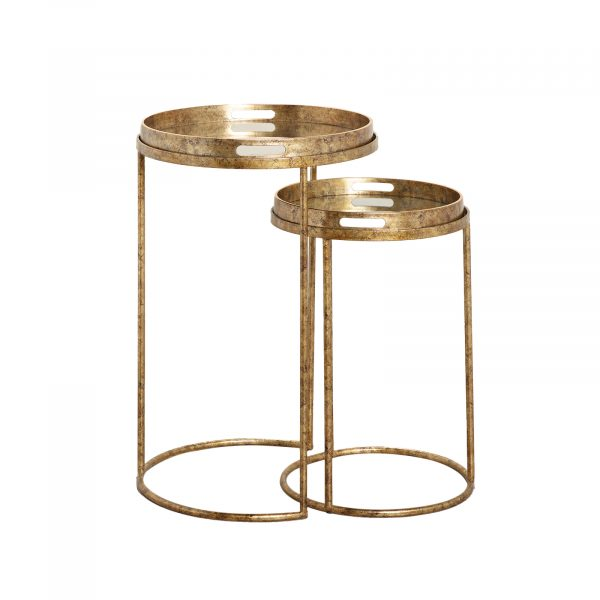 Chelsea Gold Round Side Table Set