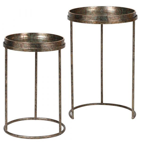 Set Of 2 Fern Pattern Tray Tables