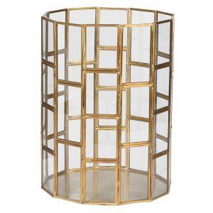 Small Gold Glass Lantern