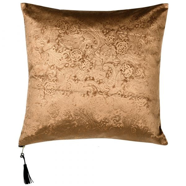 Gold Paisley Cushion Cover Only