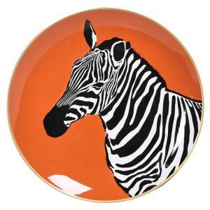 Lone Zebra Decorative Plate