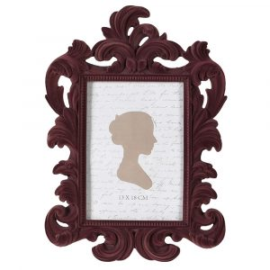 Purple Flock Photo Frame