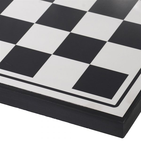 Black And Silver Abstract Chess Board