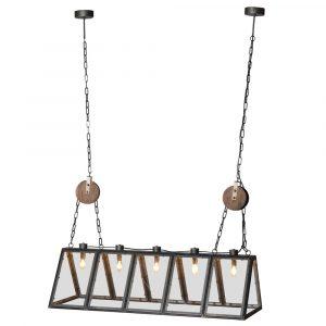5 Bulb Metal Frame Ceiling Light