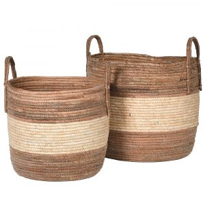 Set of 2 Banana Leaf Baskets