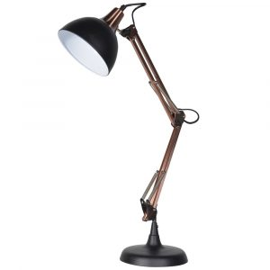 Black And Copper Angle Desk Lamp