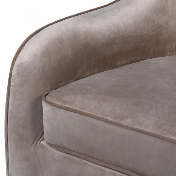 Fitzrovia Swivel Armchair with Gold Legs