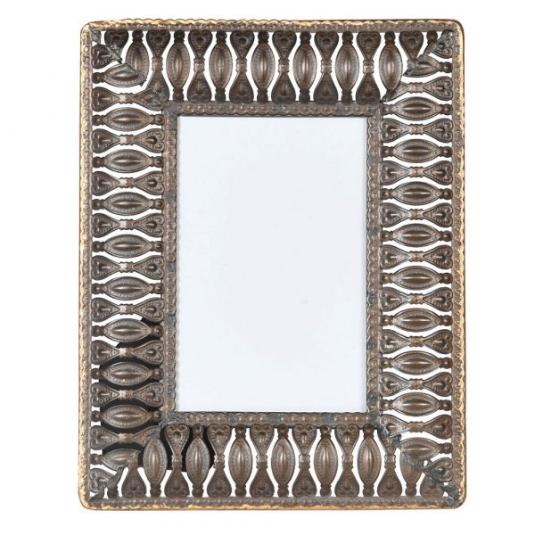 Small Distressed Metal Photo Frame