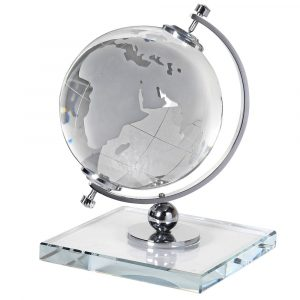 Crystal Globe On Stand