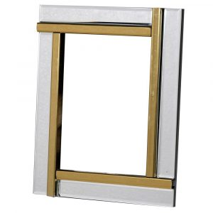 Gold Panel Mirror Frame
