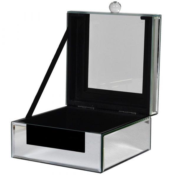 Glass & Mirror Trinket Box