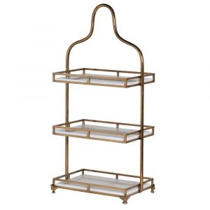 3 Tier Marble Tray Stand