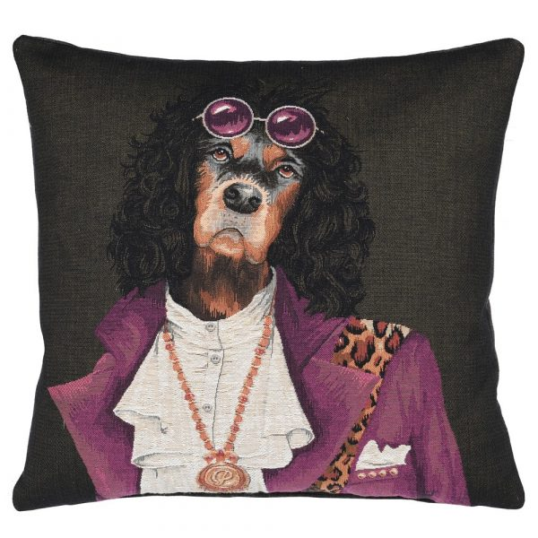 Spaniel With Glasses Cushion Cover 45 x 45 cm