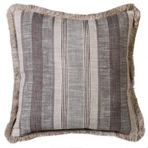 Brown Stripe Cushion Cover Only 50 x 50 cm