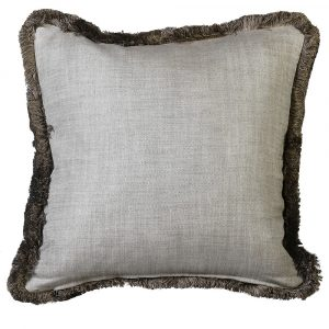 Beige Trimmed Cushion Cover Only 50 x 50 cm