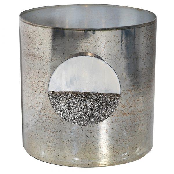 Platinum Iron Candle Holder