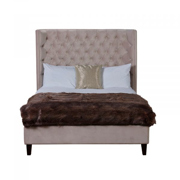 Notting Hill Buttoned Velvet 6Ft Super King-Size Bed