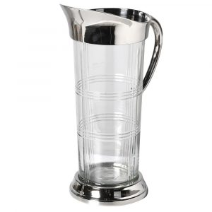 Etched Glass Jug