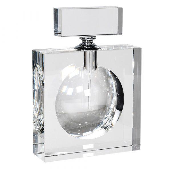 Flat Crystal Perfume Bottle