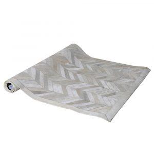 White Zigzag Cowhide Rug