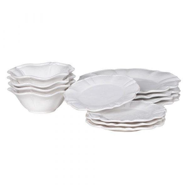 12 Piece White Dinner Service