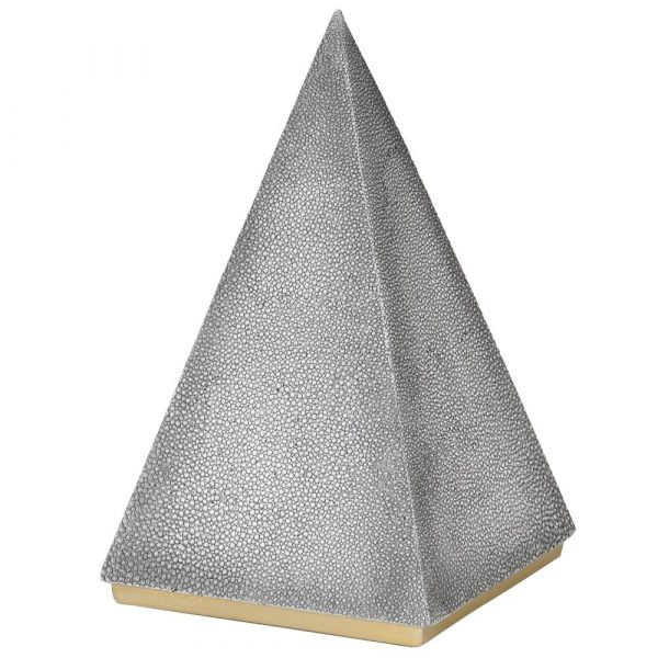 Faux Shagreen Pyramid