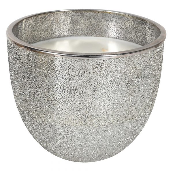 Silver Glitter Candle