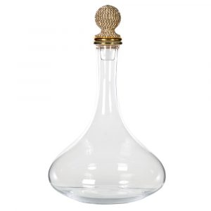 Gold Diamante Glass Decanter