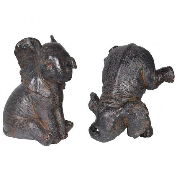 Set of 2 Playing Elephants
