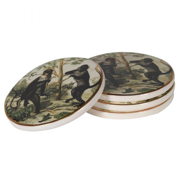 Set of 4 Monkeys Coasters