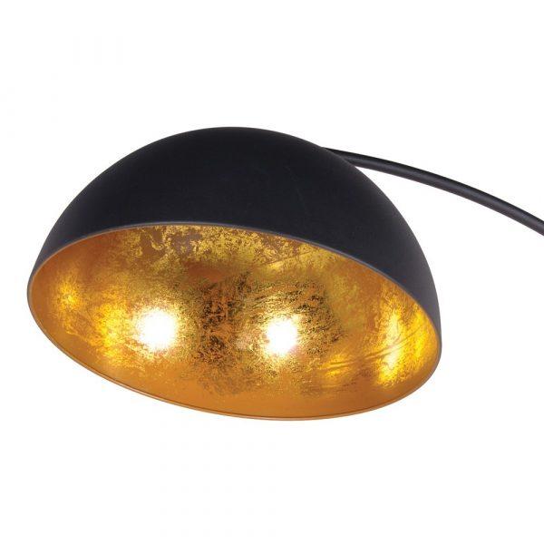 Black Curved Floor Lamp